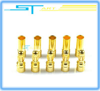 Free Shipping Good Quality 20 Pairs/Lot TB35 3.5MM Gold Bullet Banana Connector Plug 3.5MM Thick Gold Plated For  remote control