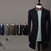 Drop Shipping Support 2013 in the long paragraph suits gentleman type male models casual suits jackets,2 Color SIZE M-XL ,SU2026