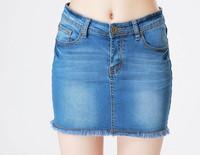 2013 new summer autumn cotton women slim cotton denim skirt, high waist lady denim skirt, 2 color option