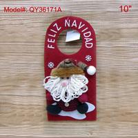"10"" Christmas Hanging Decoration Santa Claus Decor Santa Tree Ornament Xmas Gifts Door Hanging Decor FREESHIPPING"