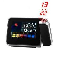 Freeshipping Cheap Digital LCD Screen LED Projector Alarm Clock Mini Desktop Multi-function Weather Station Dropshipping 8783