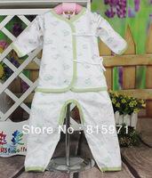 Free shipping 100% cotton baby spring&autumn underwear set fashion small children clothing baby garment wholesale 015