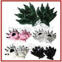 Free Shipping Halloween Children Adult  Animal Paw Dinosaur Panda Bear Claw Gloves For Women Men Party Cosplay Kids christmas