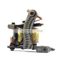 8815 Copper Carved Lettering Tattoo Machine Gun High Quality Copper 12 wrap coils