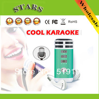 Free shipping Portable Mini 3.5mm Wireless Microphone Karaoke Player for PC/Phone/PSP/MP4/MP3 for home speaker  home theatre