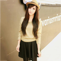 2013 autumn women's unique fabric quality cute patchwork one-piece dress