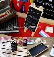 Mini Rabbit Blackboard Message Board Log Lanyards Style Magnetic Whiteboard With Chalk