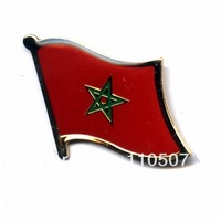 Morocco     Free shipping Croatia      16mm flag lapel pins  (350pc/lot)