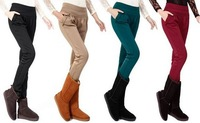 New fashion 2013 autumn and winter heavyweight harem pants women long trousers size S-4XL 5 color free shipping