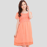 Maternity dress maternity clothing summer fashion one-piece dress top skirt chiffon maternity dress