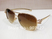2013 High Quality Factory Price Brand Fashion Summer Sunglasses for women Designer Car CT Sunglasses 8200865 With Original Box