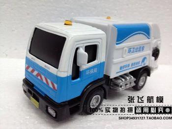 Alloy car models garbage truck toy clean car sanitation trucks eco-friendly car road sweeper