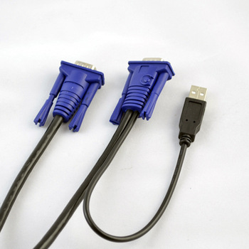 Ekl kvm cable usb vga line kvm switch special line hd video cable