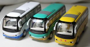 Bus bus school bus alloy car models child bus acoustooptical WARRIOR small bus