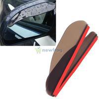 2PCS Car Rear View Mirror Flexible Anti Rain Guard Sun Shade Auto Weatherstrip S7NF
