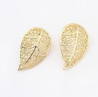 Min.order is $15(mix order)Factory price,new Fashion Earrings Pierced leaf earrings