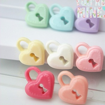 2013Newest~!!AAA quality 30*33mm mix color resin Love Lock flower/cabochon Resin pendants resin Flower for jewelry decoration