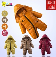 2013 Retail New Style Popular Baby Romper Outerwear & Coats Snow Wear Down Jacket Outerwear winter warm romper