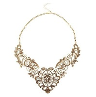2013 European and American fashion luxury retro Necklace Heavy metal filigree lace effect exaggeration short necklace lady