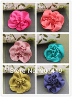 Free shipping~100% handmade DIY beauty rose flowers,Hair accessories,Hair flowers WITHOUT clip(SG002)