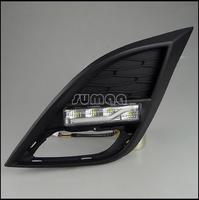 Free Shipping By EMS or Fedex,LED DRL,LED Daytime Running Lights for Mazda 3 start import 2011-2013,4pcs LED Lights+Bar Lights