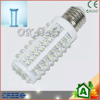Free Shipping E14 Cool White 108 LED Light 7W 360 High Power Corn Bulb Lamp 220V  Hot Selling