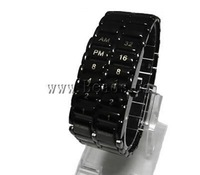 Free shipping!!!LED Light Watch,Western Jewelry, Zinc Alloy, 22mm, Length:8.6 Inch, Sold By PC
