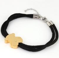 Hot Sale! FREE SHIPPING  New pattern Women's plating rose gold Stainless Steel bear shape Bracelet Bangle Wholesale Price