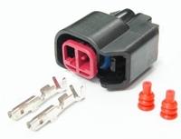 longyue  20pcs ev6 ev14 USCAR Fuel Injector Pigtail Connectors sr20det rb30 GTR FAST ls2 ls3 universal