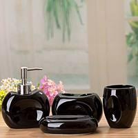 Free Shipping Fashion Ceramic cutout combination bathroom set four piece set bathroom accessories