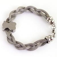 Hot Sale! FREE SHIPPING  New pattern Women's Silver Stainless Steel bear shape Bracelet Bangle Wholesale Price