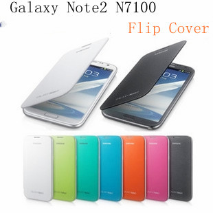 Back cover flip leather battery Mobile Phone case Bag for Samsung Galaxy note 2 n7100 Direct shipping