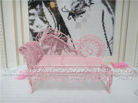 Beauty couch fashion iron jewelry stand accessories rack pink chair earring holder decoration