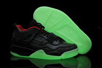 Luminous basketball shoes air yeezy2 kanye west j4 male sport shoes calf skin