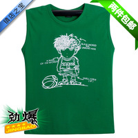 Male 100% 2013 summer cotton t-shirt sleeveless men's clothing loose sports basic shirt plus size plus size casual