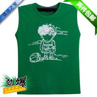 Male 100% 2013 summer cotton t-shirt sleeveless men's clothing loose sports basic shirt plus size plus size casual