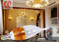 3W LED Bulb Bubble Ball, High Power  E14 Lamp dimmer Light, AC85-265V Cool/Warm White Free shipping