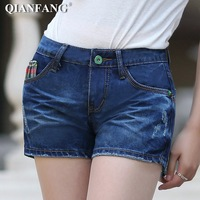 2013 denim shorts female denim shorts female roll-up hem shorts