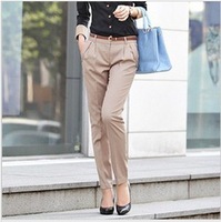 Ol outfit pants suit pants trousers skinny pants with belt drop shipping