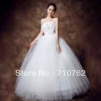 Tube top high waist wedding dress maternity bride