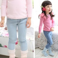 2013 Fall hot top children girls jeans female casual pants legging kids trousers autumn winter baby wear
