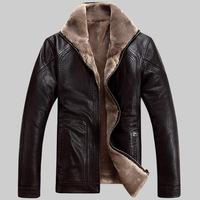 Hot!!! Free Shipping Men's Brand Luxury Fur Sheep Leather Men's Fur Coat Very Warm in Winter Leather Jacket,M-5XL