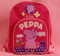 Hot sale kids bags fashion girls peppa pig children's school bags backpacks schoolbag Backpack for girl child 3pcs lot wholesale