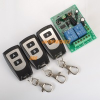 12V 2CH Wireless Remote Control Switch Board & two buttons remote control 3pcs wireless System