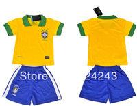hot sell ! 13/14 brazil home color yellow kids/children/youth football jersey soccer jerseys soccer uniforms football jerseys
