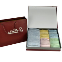 Purplish red gift box 2 Indian fiber bath towel set gift