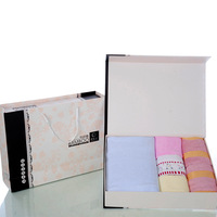 Quality gift box 3 Indian fiber bath towel child towel beauty towel set
