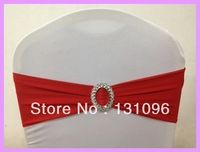 Top Quality Red Lycra Band With Oval Buckle  ,Double Layer Lycra Bands For Wedding Events &Party Decoration