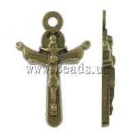 Free shipping!!!Zinc Alloy Cross Pendants,Cute, antique bronze color plated, nickel, lead & cadmium free, 13.50x20.50x2.50mm