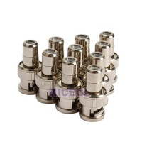 NI5L 10 PCS RCA Female Jack to BNC Male Plug Coaxial RF Plug Adapter Connector